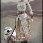"""Figurine StarWars : Star Wars Episode VII pack 2 figurines Movie Masterpiece Rey & BB-8 12"""" Hot Toys"""