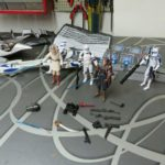 StarWars collection : Lot 6 Figurines STAR WARS Galactic Battle Game  - Hasbro 2008- et 2 vaisseaux
