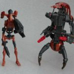 StarWars figurine : LOT 2 FIGURINES HASBRO STAR WARS ROCKET BATTLE DROID + DESTROYER DROID