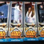 "Figurine StarWars : STAR WARS REBELS HERO SERIES  12"" FIgurines NIB - Lot Of 4 - Darth Vader, Ezra"