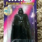 Figurine StarWars : Star Wars Figurine Stamper Darth Vader MOC Ink Pad in Base 1997 Rose Art