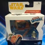 StarWars figurine : Star Wars Micro Force Figurines - Rey S Speeder Jakku + à Capuche Rey Figurine