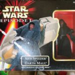 "StarWars figurine : New Hasbro Star Wars Episode 1 3.75"" Sith Speeder And Darth Maul Figure Sealed"