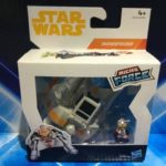 StarWars collection : Star Wars Micro Force Figurines - Rebel Snowspeeder avec Wedge Antilles Figurine