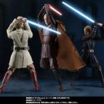 Figurine StarWars : Bandai S.H.Figurines Star Wars Conte Dooku & Obi-Wan Kenobi & Anakin Skywalker
