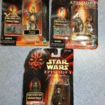 StarWars collection : Hasbro Star Wars: Episode 1 Lot of 3 figurines Watto, Gasgano, Rune Haako in pkg