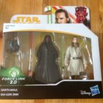 Figurine StarWars : STAR WARS FORCE LINK 2.0 DARTH MAUL & QUI-GON JINN HTF 2-PACK