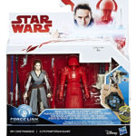 StarWars figurine : Star Wars Last Jedi Force Link Rey Jedi Training & Elite Pretorian Guard 3.75'