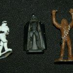 StarWars figurine : VINTAGE 1982 LFL  STAR WARS DIE-CAST METAL FIGURE Micro Figurines. Lot Of 3
