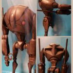 "StarWars figurine : Star Wars Clone Wars Super Battle Droid 3.75 "" Figurine 100% Complet"