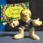 "Figurine StarWars : Hasbro Galactic Heros Star wars Hoth Han Solo Blue coat 2-1/4"" Figurine Ages 3+"