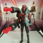 StarWars collection : STAR WARS FIGURINE DARTH MAUL AVEC LANCE-PROJECTILES DOUBLE EN LOOSE NEUF