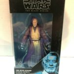 "StarWars collection : Star Wars Série Noire 6 "" Obi-Wan Kenobi Force Spirit Figurine Disney Hasbro"