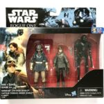 StarWars collection : Hasbro Star Wars Rogue One, 3 Pack of Figurines, Jyn Erso, Cassian, K-2SO, NEW!!