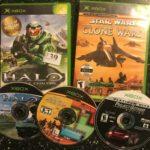 3 NTSC ORIGINAL XBOX GAMES HALO 1 + STAR WARS - pas cher StarWars