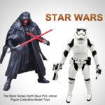 Figurine StarWars : 16CM Star Wars La Série Noire Darth Maul PVC Action Figurine Jouets Modèle