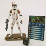 StarWars collection : Figurine STAR WARS Galactic Battle Game COMMANDER CODY - Hasbro 2008