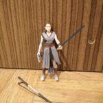Figurine StarWars : Star Wars The Last Jedi REY Battle On Crait Figure Force Link 2.0