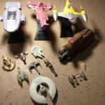 StarWars collection : Lot de 11 véhicules Star Wars + 4 mini figurines LFL GTI Action Fleet 1998