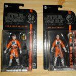 StarWars collection : Lot De 2 Figurines Star Wars Wedge Antilles Et Dak Ralter The Black Serie