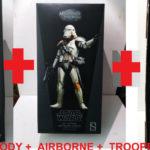 "StarWars figurine : Lot Star wars 3 figurines Clones Cody+Trooper+Airborne Sideshow Hot Toys 1/6 12"""