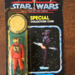 Figurine StarWars : STAR WARS POWER OF THE FORCE FIGURINE B-WING PILOT BLISTER COLLECTOR COIN 1984