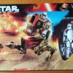 StarWars figurine : STAR WARS  Assault Walker with  first order stormtrooper officer neuf
