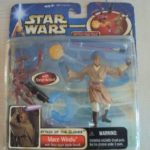 StarWars collection : STAR WARS SAGA - ATTACK OF THE CLONES : MACE WINDU with BATTLE DROID 2002 NEUF