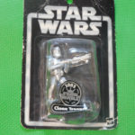 "StarWars figurine : 2003 Hasbro Star Wars 3.75"" Silver Clone Trooper Action Figure Ages 4+ T4"
