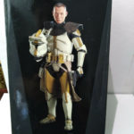 StarWars figurine :  Star wars Clone Commander Bly 327th SC Sideshow Hot Toys 1/6 30cm 12inch TBE