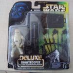 StarWars figurine : STAR WARS POTF DELUXE - SNOWTROOPER & E WEB HEAVY REPEATING BLASTER 1996 KENNER
