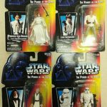 """Figurine StarWars : 1995 Star Wars """"The Power of the Force"""" Kenner Figurines Lot of 4 - NIB"""