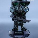 Figurine StarWars : HOT TOYS COSBABY STAR WARS ROGUE ONE DEATH TROOPER BLACK CHROME BOBBLE HEAD