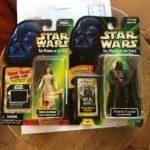 StarWars figurine : lot de 2 1997,1998 star wars the power of the force DARTH VALDER ,PRINCESS LEIA