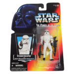 """StarWars figurine : Kenner Star Wars Stormtrooper The Power of the Force 3 3/4"""" Tall Figurine 1995"""