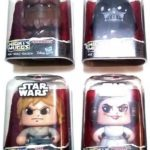 StarWars figurine : LOT of 4 Mighty Muggs Star Wars Hasbro New Push n Turn 3 Faces NEW