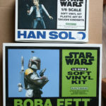 StarWars collection : Star Wars Maquette Figurine Soft Vinyl Boba Fett + Han Solo 1/6 Kaiyodo