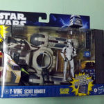 StarWars figurine : BRAND NEW STAR WARS CLONE WARS * Y-WING SCOUT BOMBER with PILOT * 2010-2011