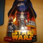 StarWars collection : figurine STAR WARS revenge of the sith CLONE PILOT WITH FIRING CANNON n°34