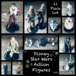 StarWars figurine : Disney Star Wars Lot of 11 Figurines Young & Old Leia, Chewbacca, Rey Mixed Lot