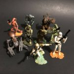 "StarWars collection : Star Wars Unleashed Figurines (Hasbro Lucas Film) Lot of 9 - 2+"" Figurines"