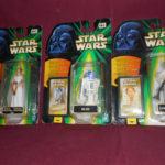 StarWars collection : LOT 3 FIGURINES HASBRO Photo Flashback 1998 - Leia, Luke, R2-D2- neuves scellées