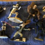StarWars collection : Lot Of 8 Star Wars 2000s Non Poseable Figurines Palpatine Droids