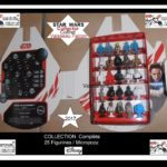 Figurine StarWars : 2017 STAR WARS Leclerc 25 figurines+ Vaisseau Faucon Millénium Complet Micropopz