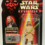 "StarWars collection : Hasbro 1998 Star Wars Episode 1 Qui-Gon Jinn 3.75"" Figure New Sealed"