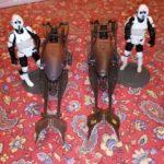 Figurine StarWars : Star wars speeder bike avec scout trooper comp'et