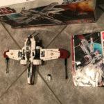 Figurine StarWars : Lego Star Wars 8088 : arc 170 starfighter avec 1 figurine boite et notice
