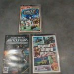 Lot 3 jeux PSP Sonic Rivals, GTA Vice city - Bonne affaire StarWars