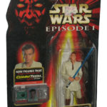 Figurine StarWars : Star Wars Épisode I Obi-Wan Kenobi Jedi Duel Commtech Chip Figurine