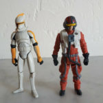 Figurine StarWars : Lot 2 figurines Star Wars articulées Hasbro - Bon Etat